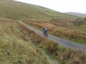 Matty descending into Rhydcriw.